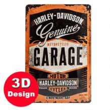 Harley Davidson 3D  Metal Wall Sign Small
